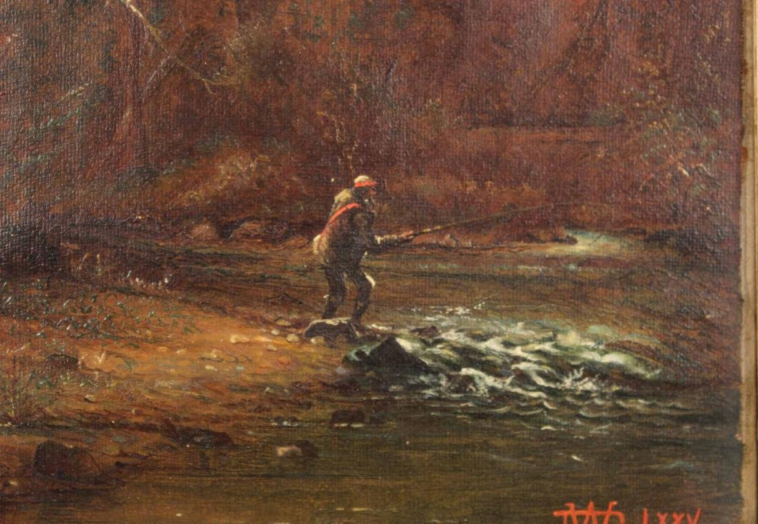 Oil on Canvas, Fisherman, Dwight Williams - 4