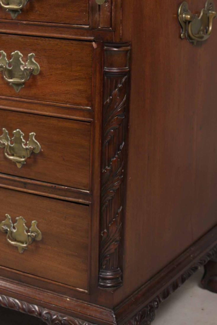 Chippendale Mahogany Desk-and-Bookcase - 4