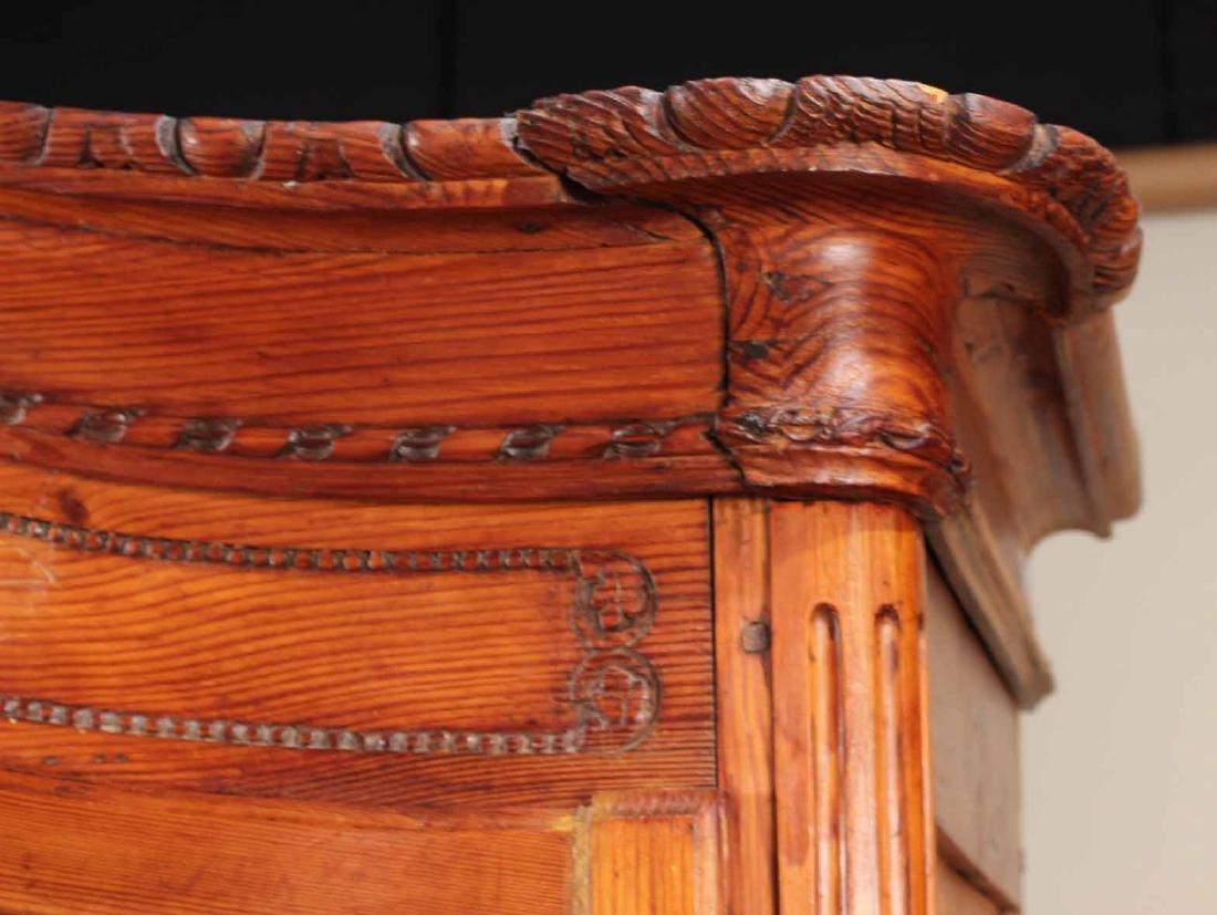Louis XV Carved Pine Diminutive Armoire - 2