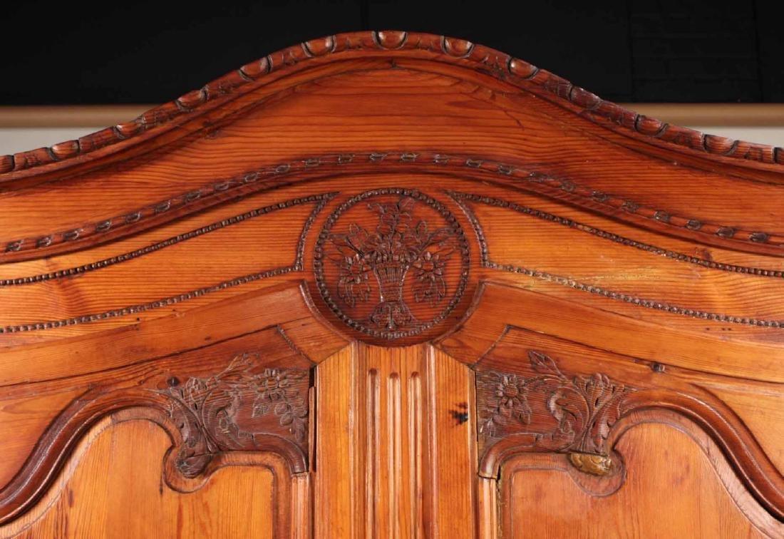 Louis XV Carved Pine Diminutive Armoire - 3