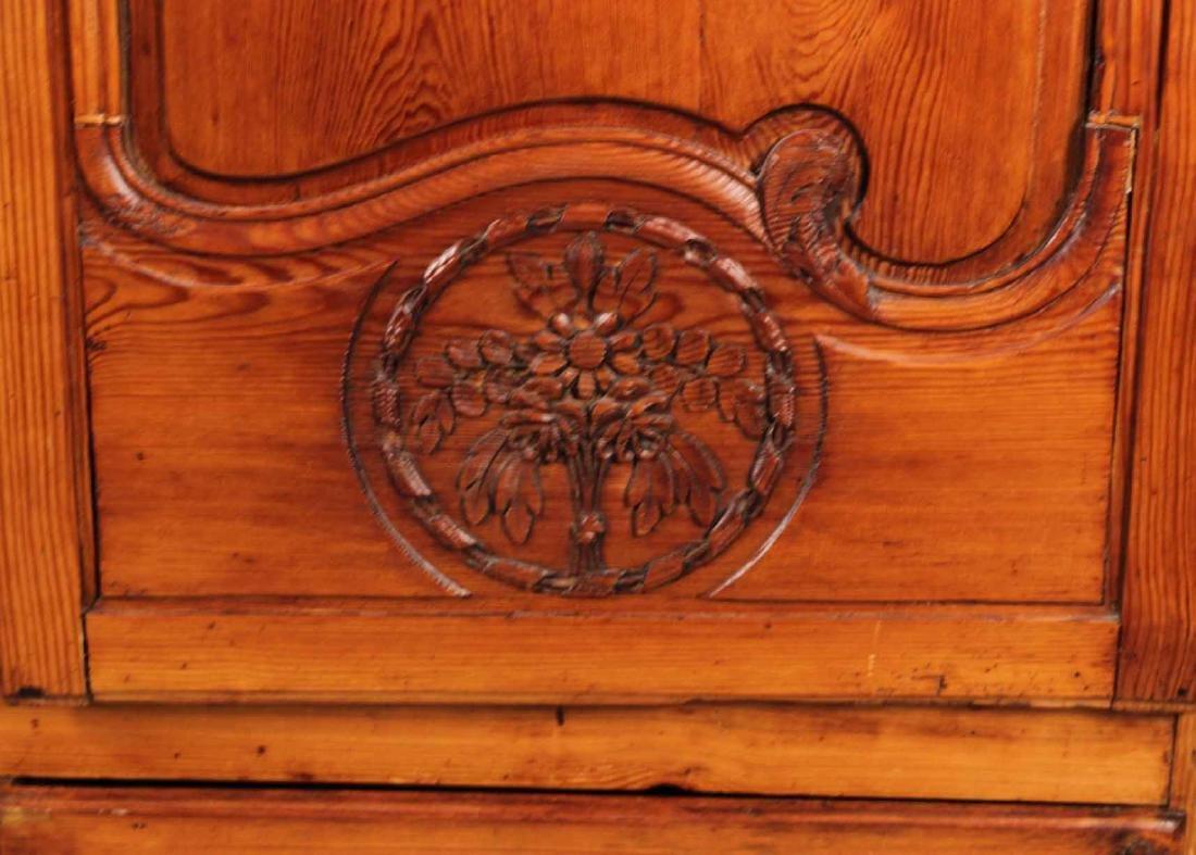 Louis XV Carved Pine Diminutive Armoire - 4