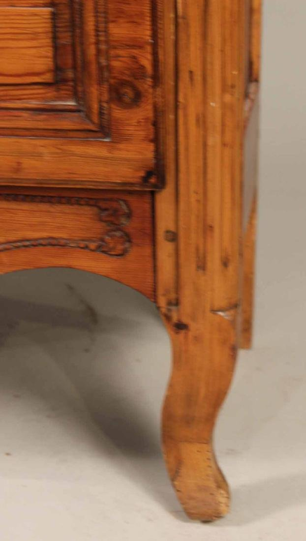 Louis XV Carved Pine Diminutive Armoire - 5
