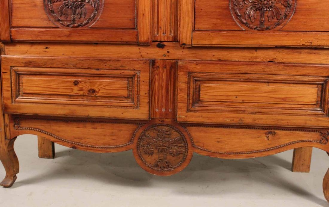 Louis XV Carved Pine Diminutive Armoire - 6