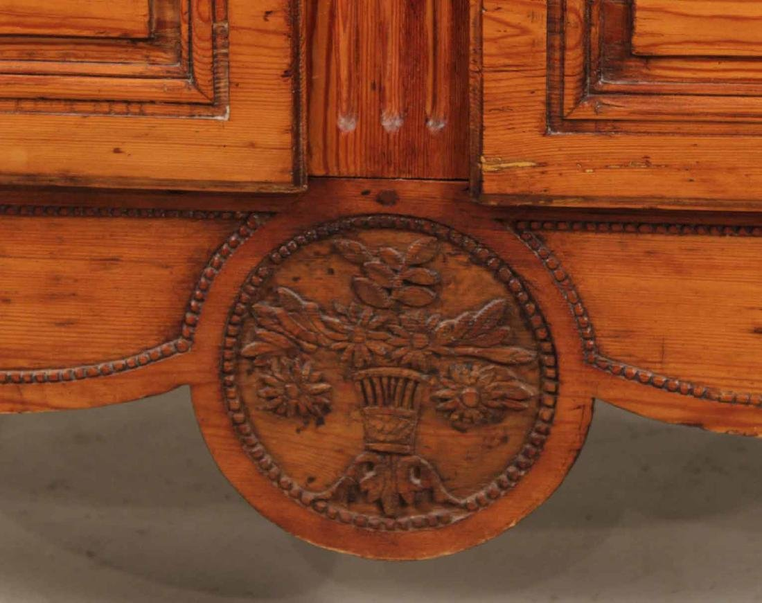 Louis XV Carved Pine Diminutive Armoire - 7