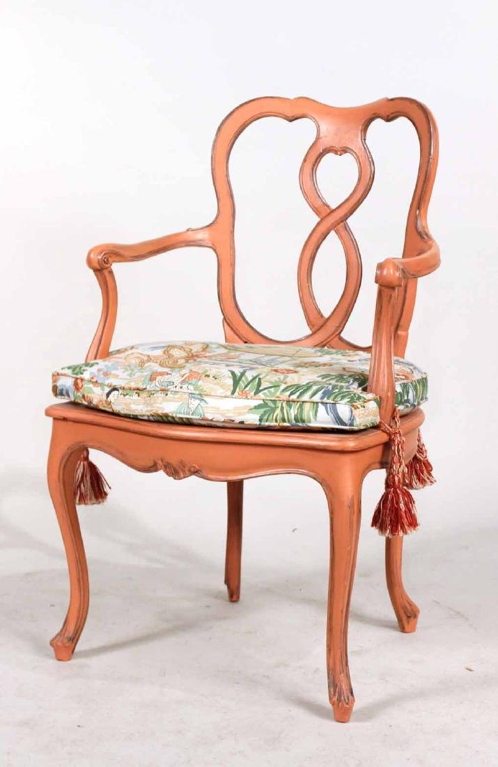 Four Painted Louis XV Style Armchairs - 2