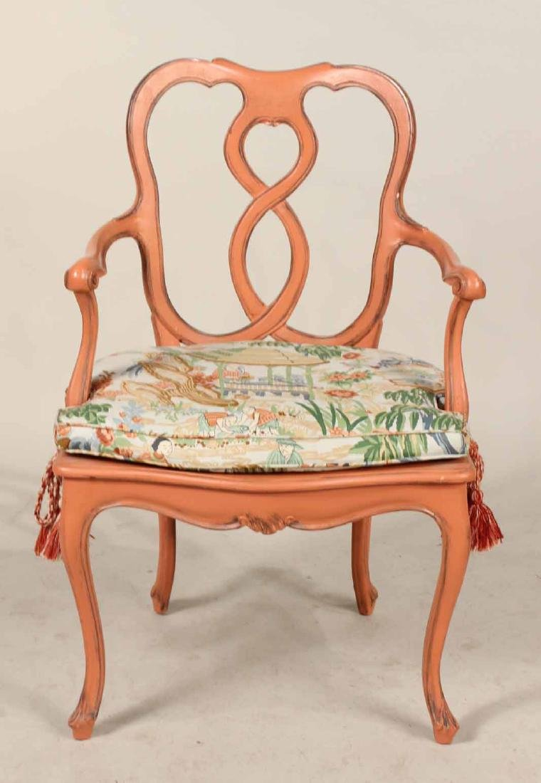 Four Painted Louis XV Style Armchairs - 3