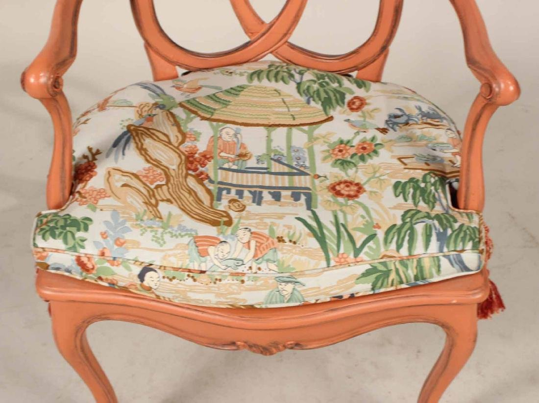 Four Painted Louis XV Style Armchairs - 5