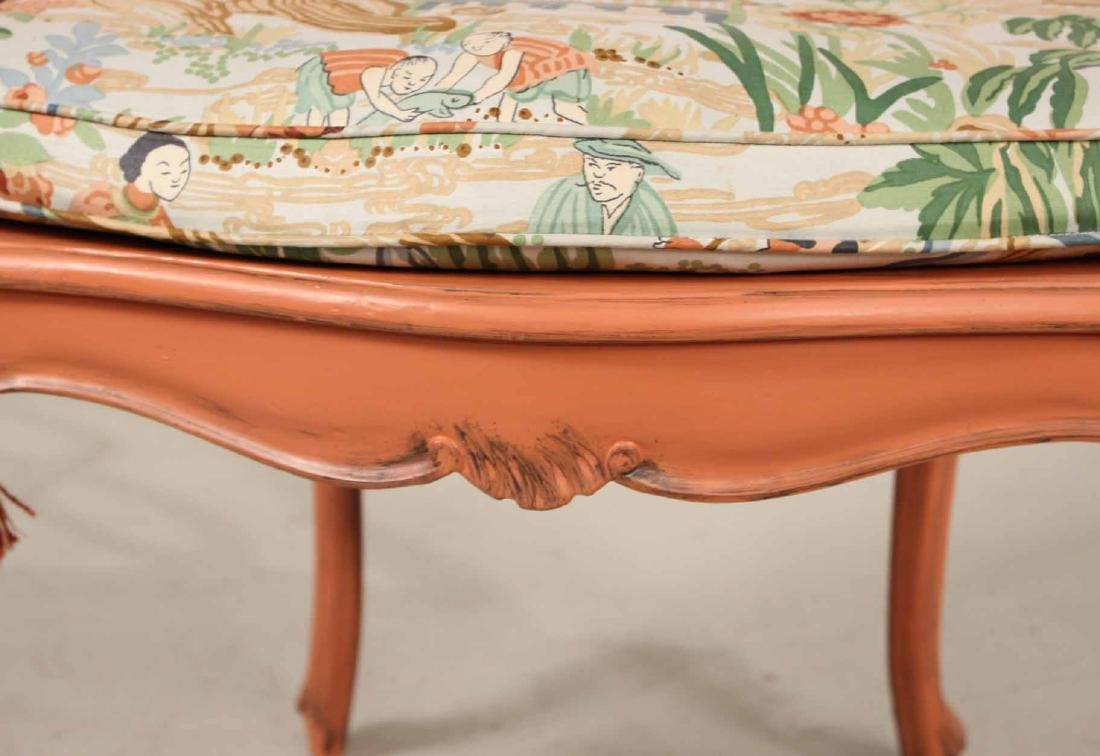 Four Painted Louis XV Style Armchairs - 7