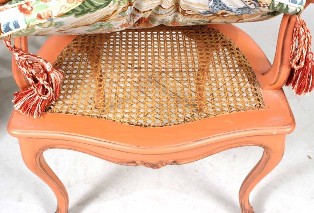 Four Painted Louis XV Style Armchairs - 9