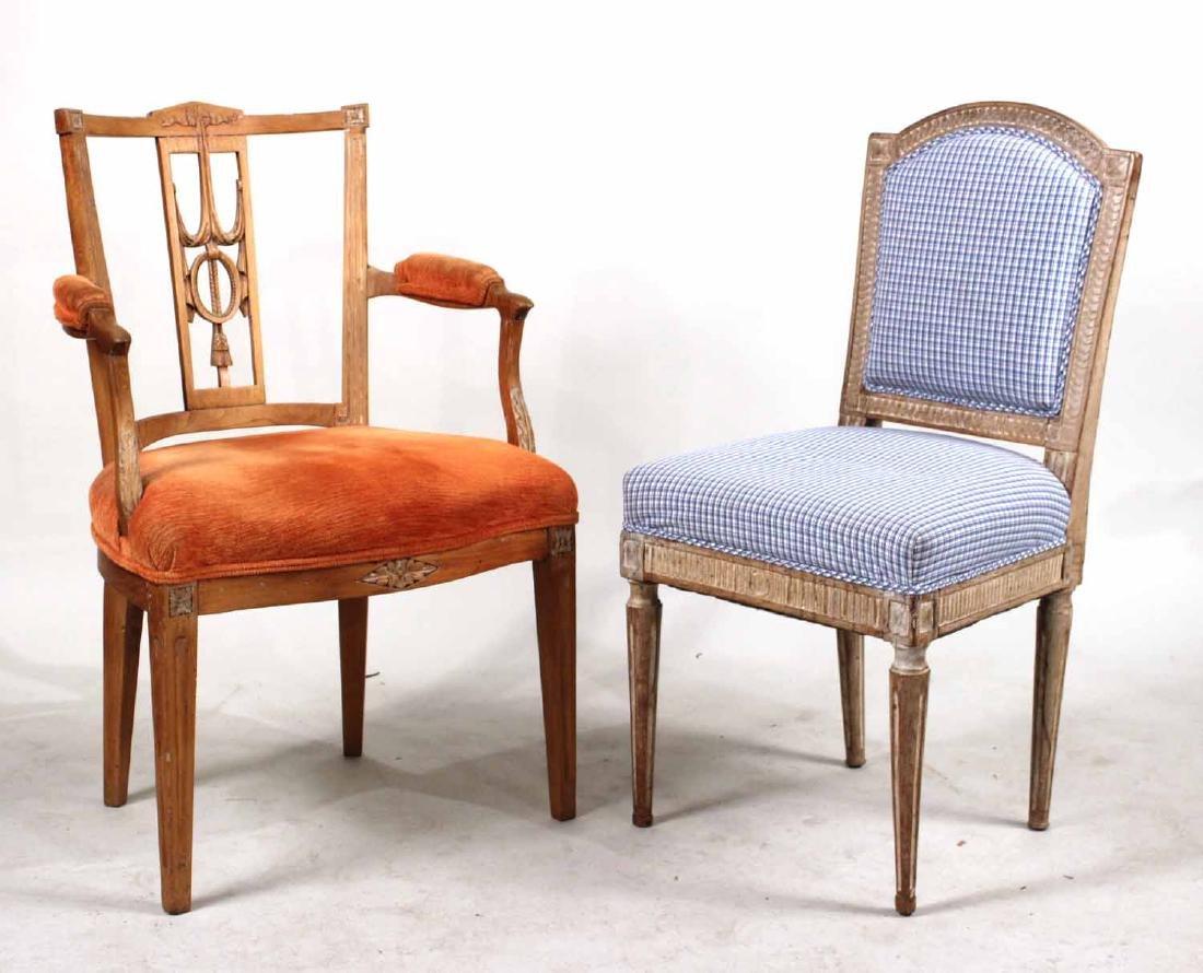 Louis XVI Carved Beechwood Side Chair