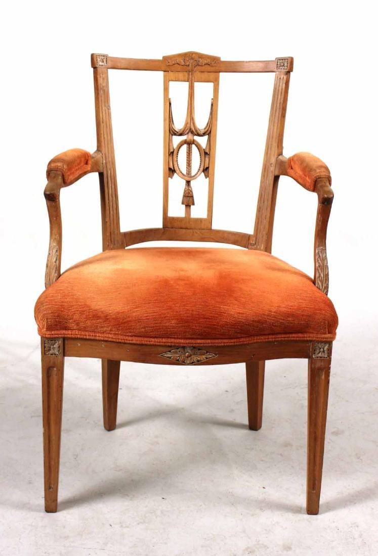 Louis XVI Carved Beechwood Side Chair - 8