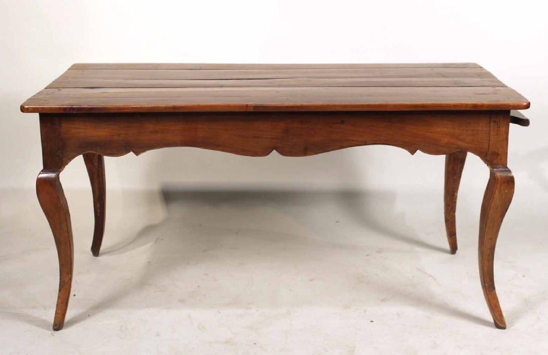 Louis XV Provincial Walnut Center Table