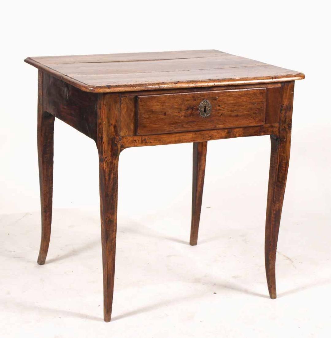 Louis XV Walnut One-Drawer Stand
