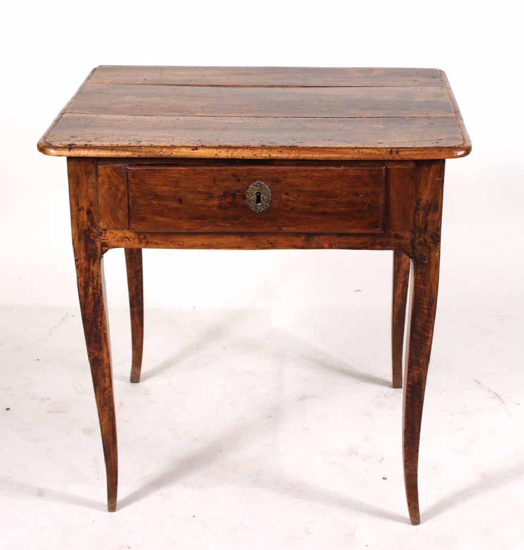 Louis XV Walnut One-Drawer Stand - 2