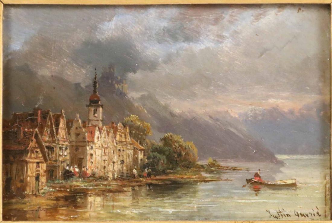 Oil on Board, Landscape, Pierre Justin Ouvrie - 2