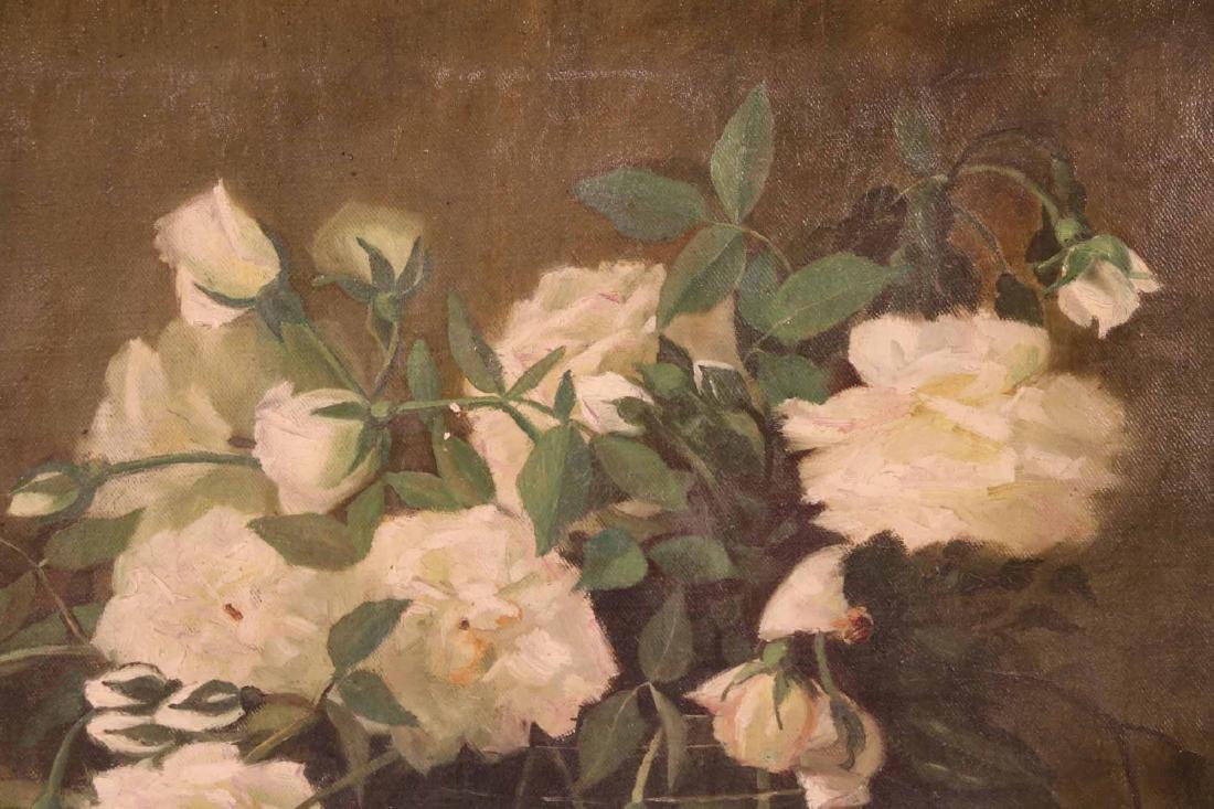 Oil on Canvas Floral Still Life - 4