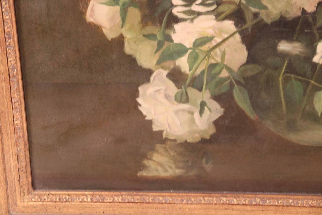 Oil on Canvas Floral Still Life - 5