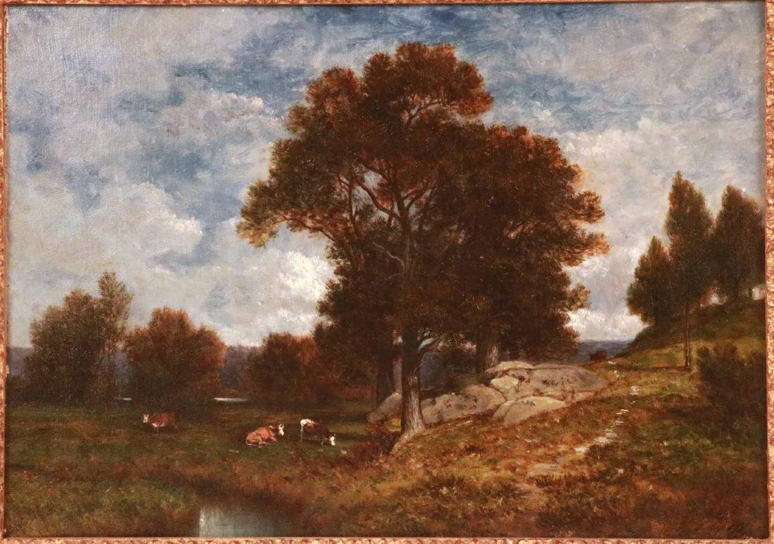 Oil on Canvas, Landscape with Cows, David Johnson - 2