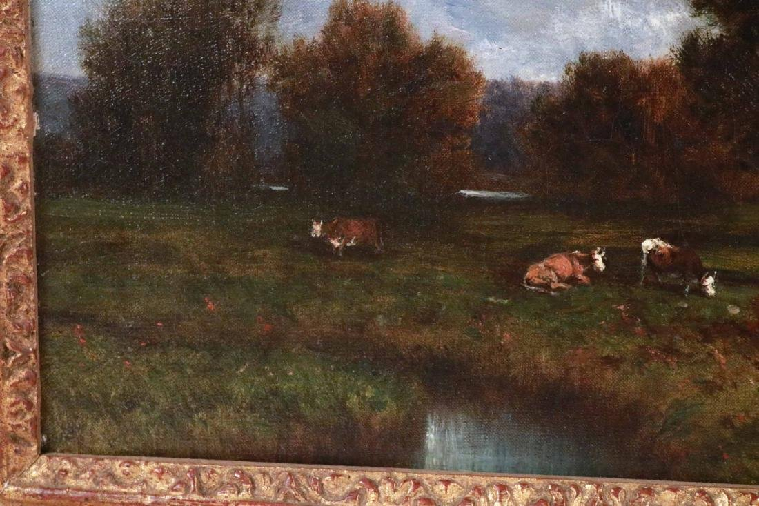 Oil on Canvas, Landscape with Cows, David Johnson - 4