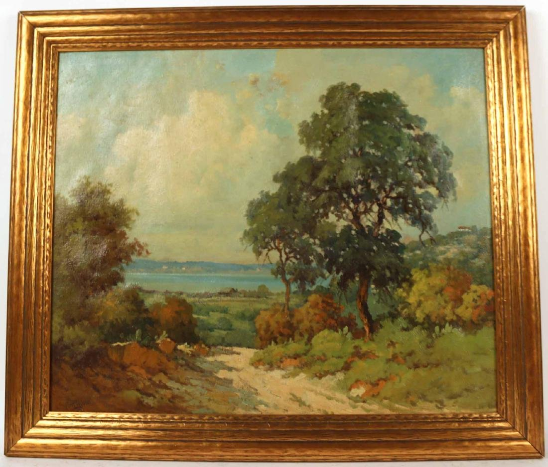 Oil on Canvas, Landscape of Cove, Robert Wood