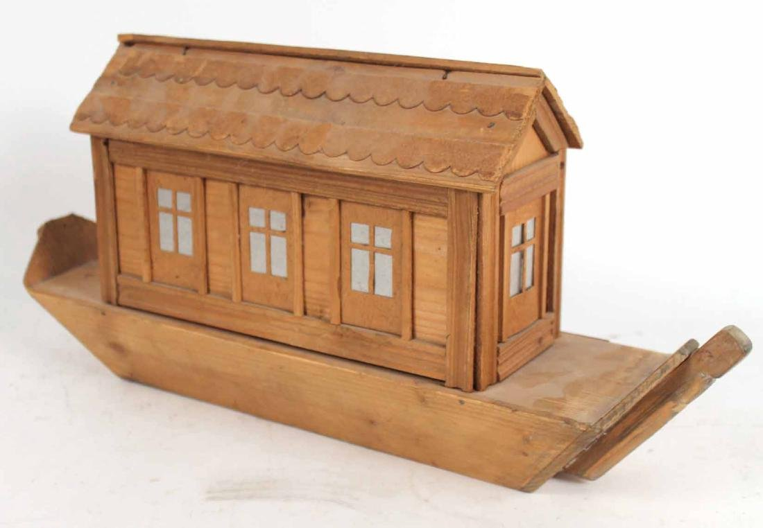 Carved Wood Noah's Ark Toy - 10