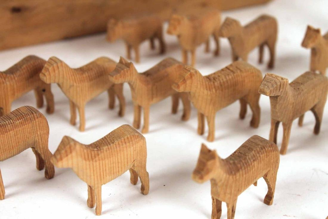 Carved Wood Noah's Ark Toy - 5