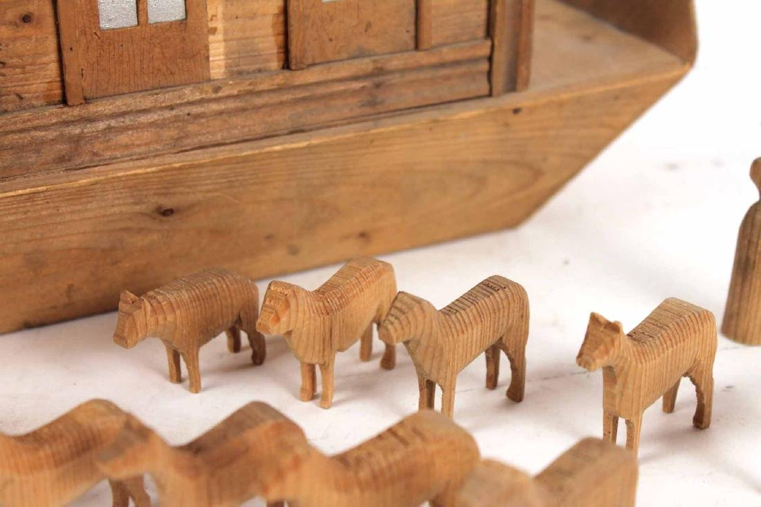 Carved Wood Noah's Ark Toy - 6