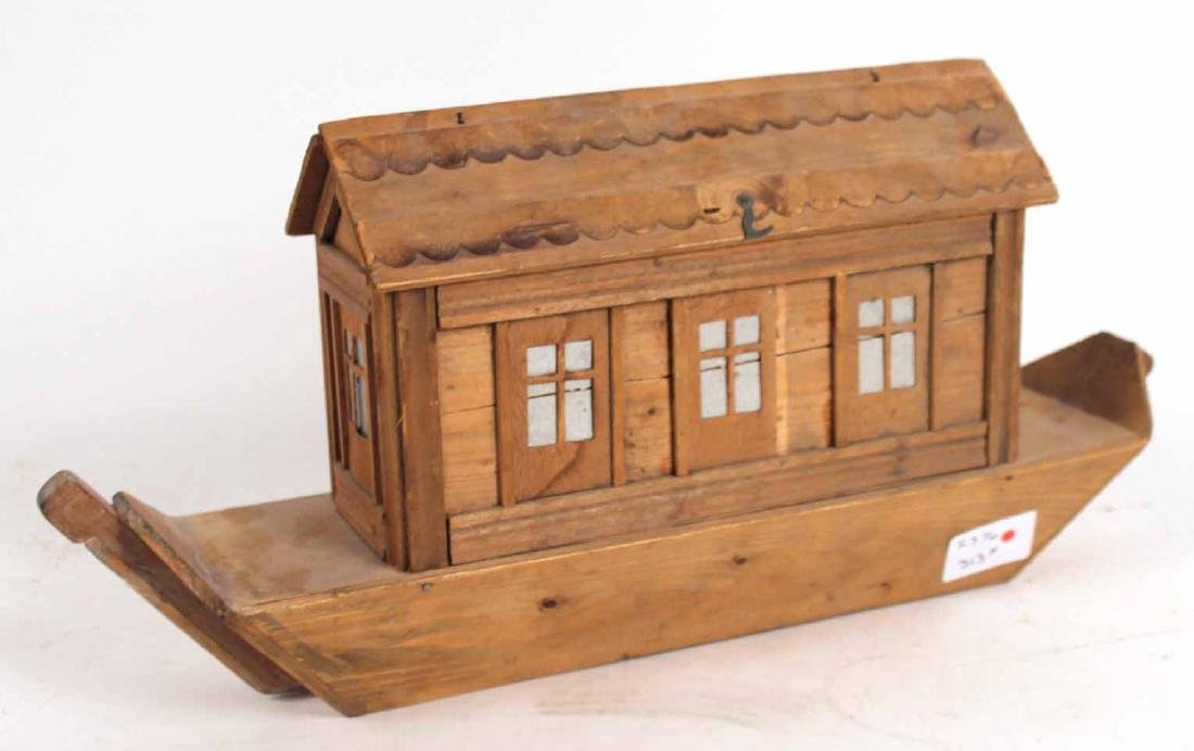 Carved Wood Noah's Ark Toy - 8