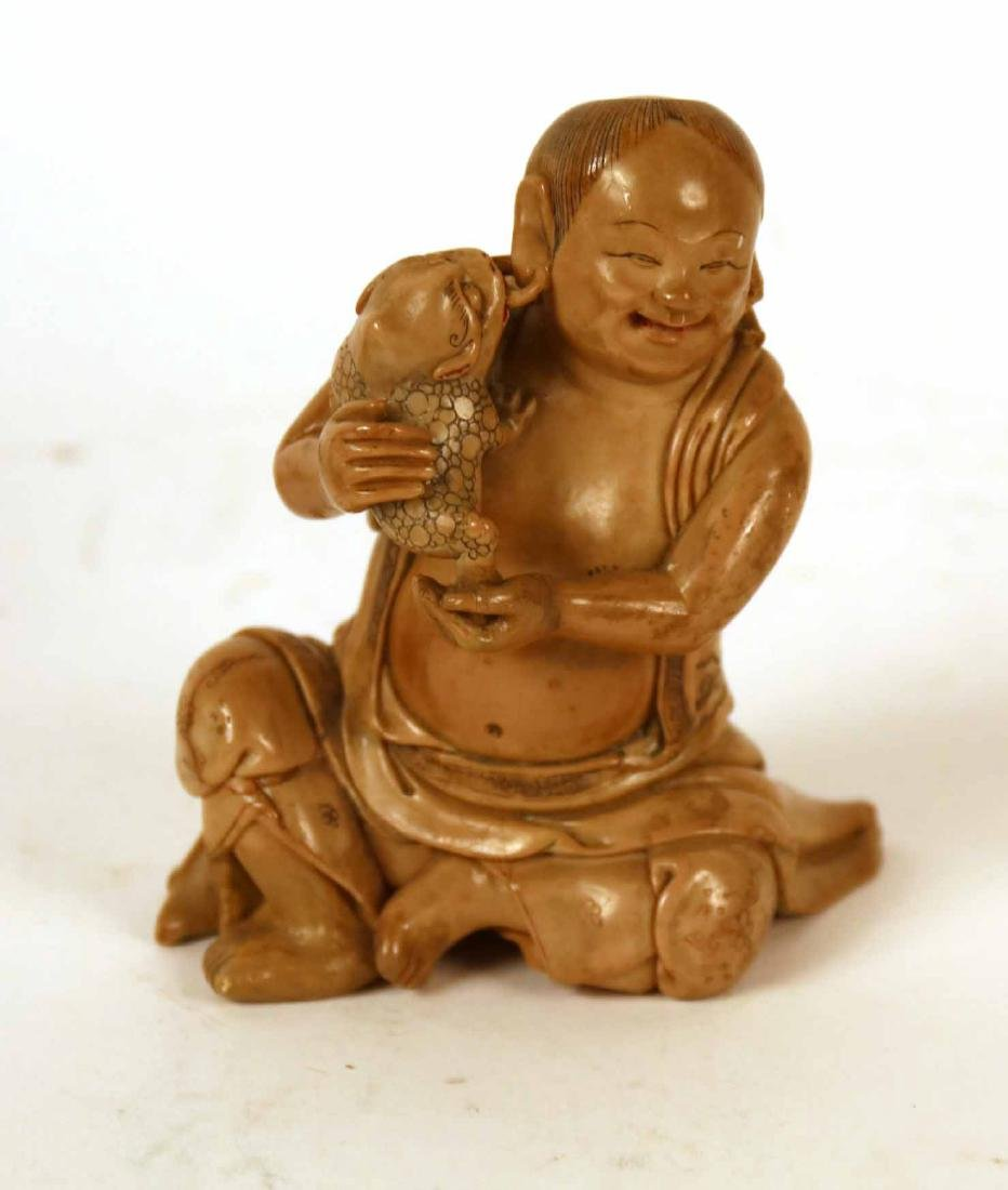 Two Asian Ceramic Cloaked Figures - 2