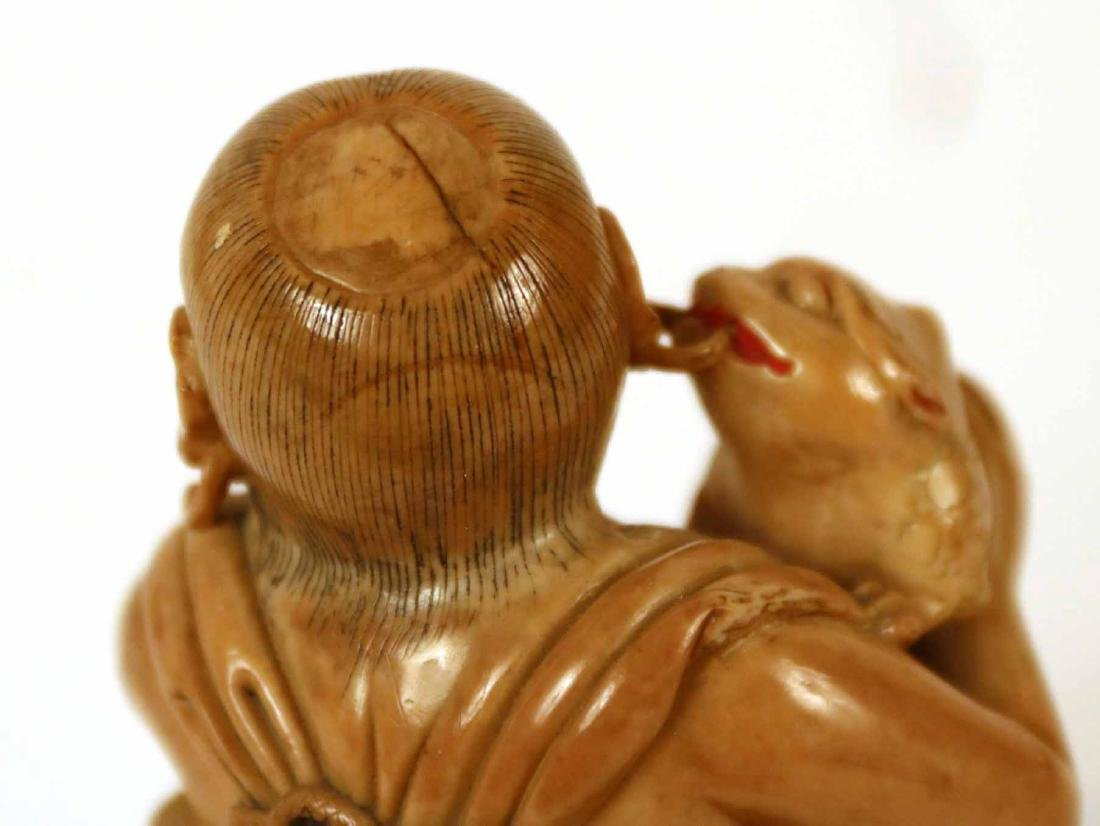 Two Asian Ceramic Cloaked Figures - 4