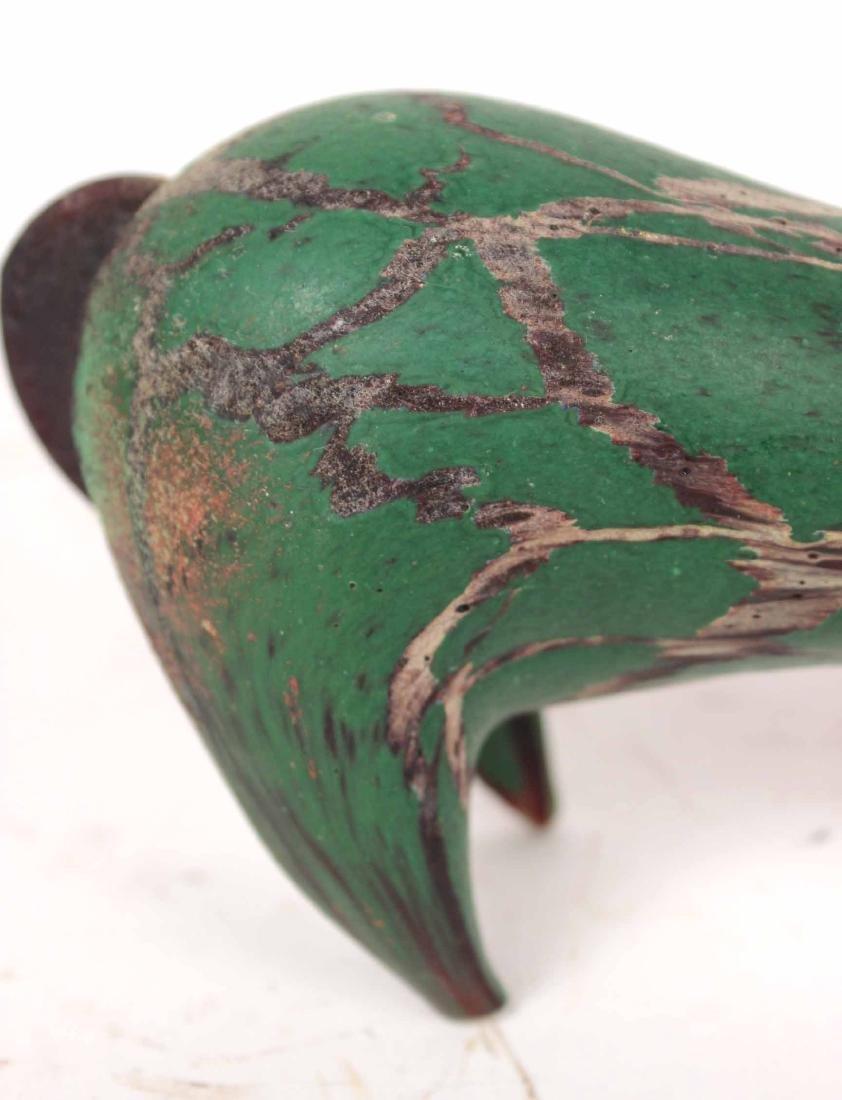 Contemporary Green Striated Glass Deer Figure - 3
