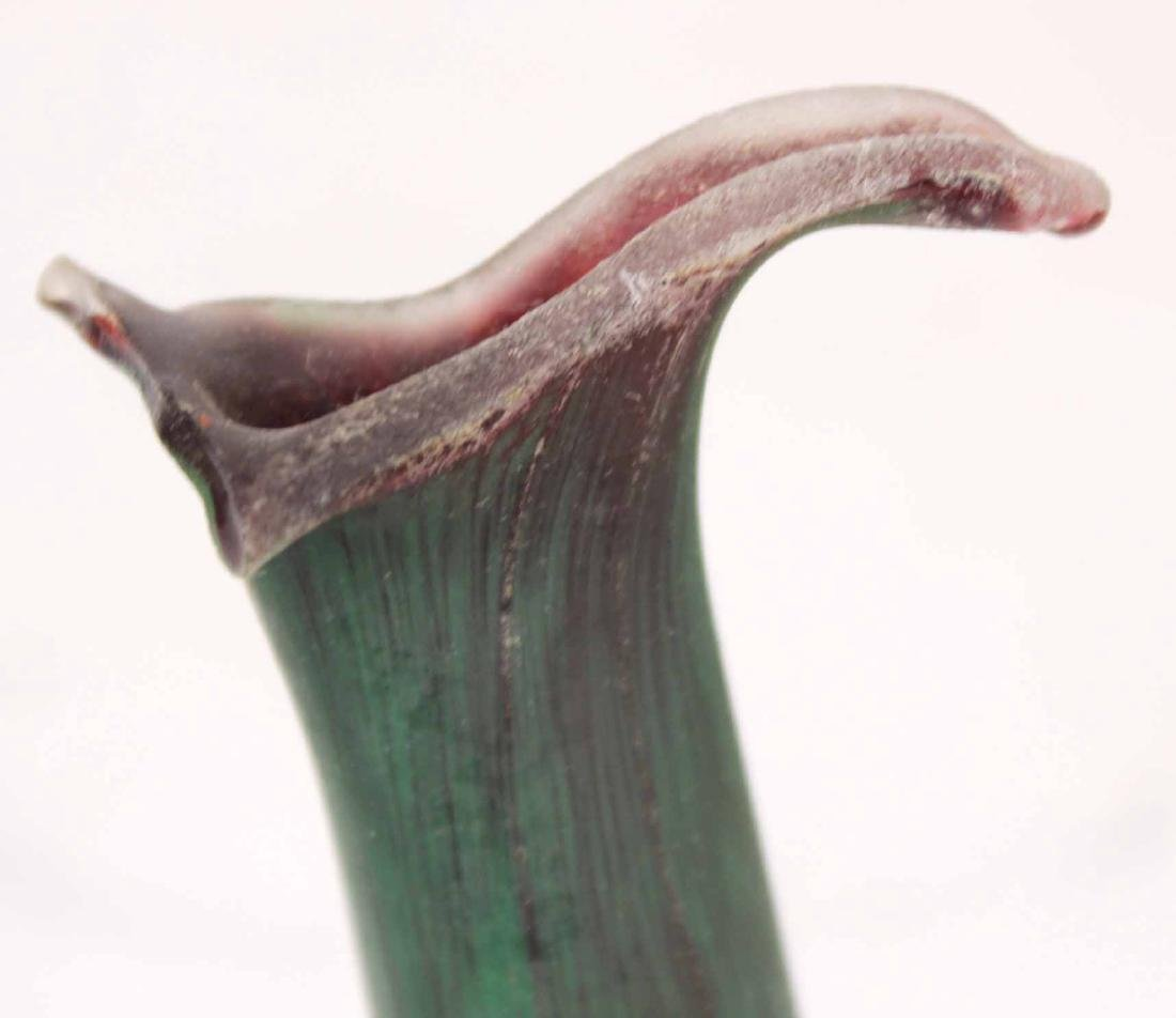Contemporary Green Striated Glass Deer Figure - 4