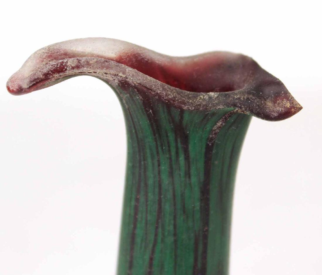 Contemporary Green Striated Glass Deer Figure - 5