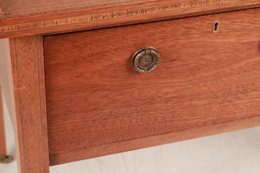 Federal Style Stone-Inset Mahogany Writing Desk - 4