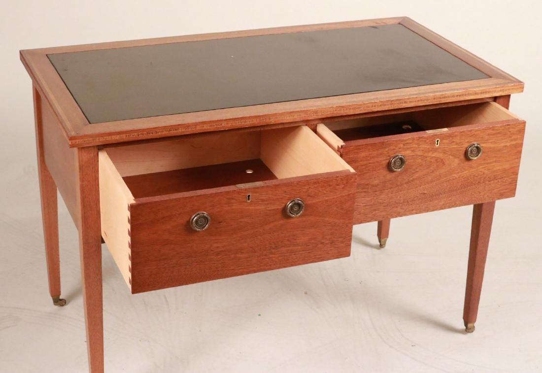 Federal Style Stone-Inset Mahogany Writing Desk - 6