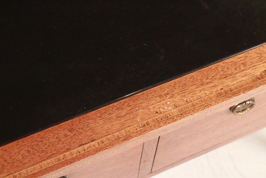 Federal Style Stone-Inset Mahogany Writing Desk - 9