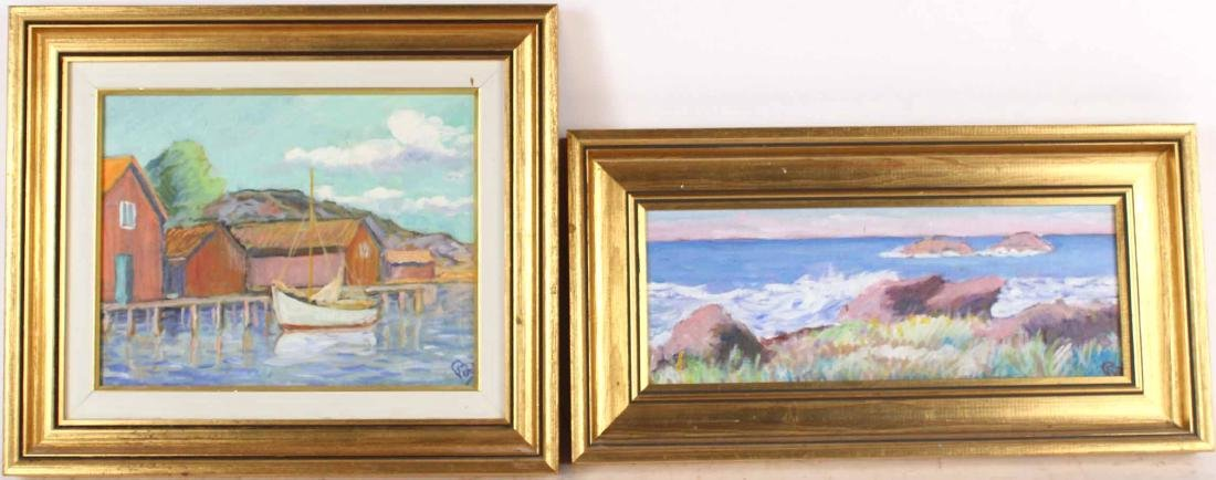 Two Oil on Board Seascape Paintings