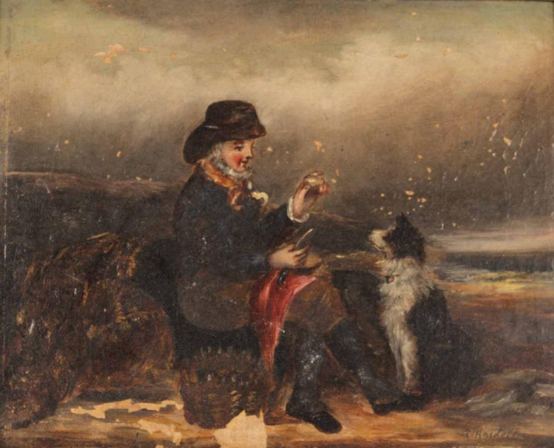 Oil on Canvas, Man with Sporting Dog - 3