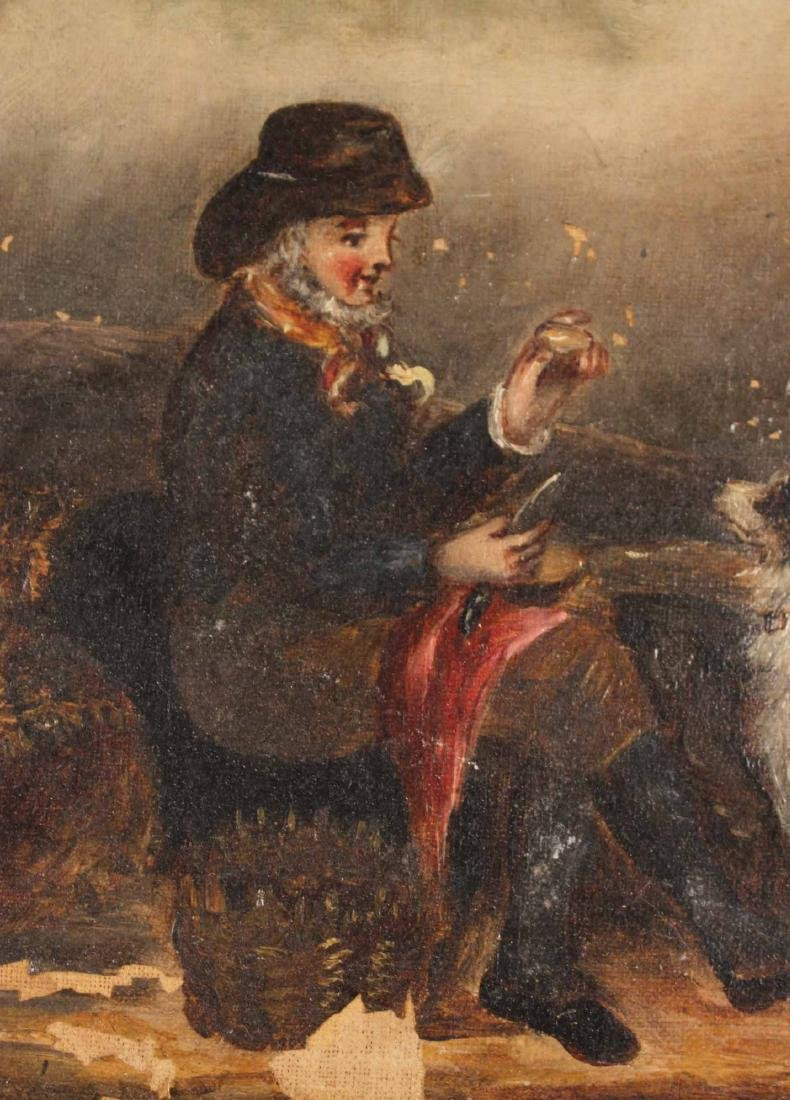 Oil on Canvas, Man with Sporting Dog - 6