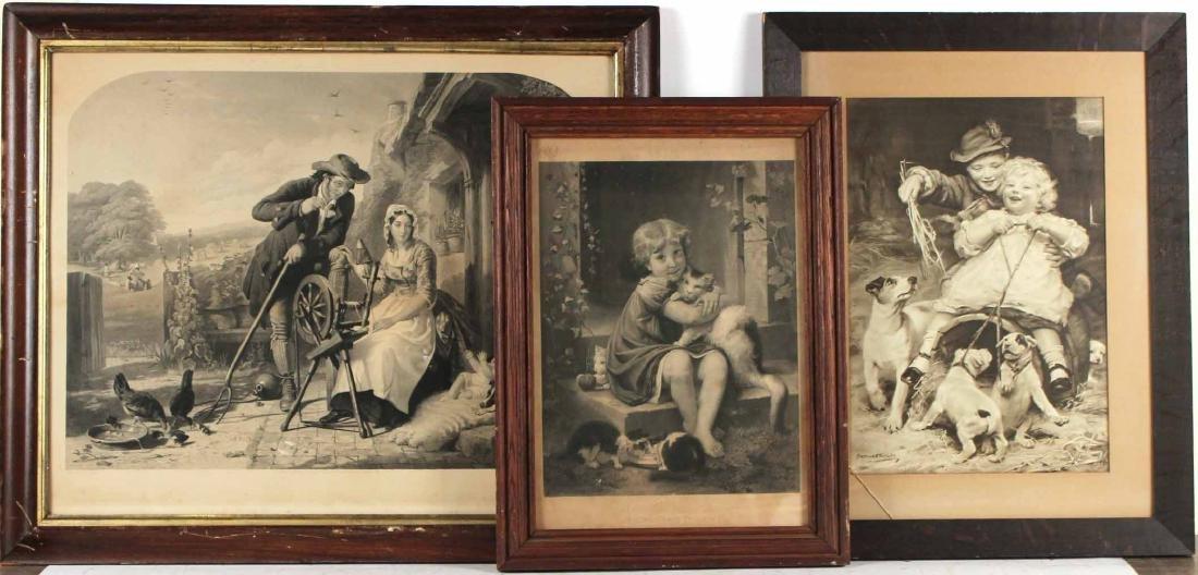 Three Vintage Black and White Prints