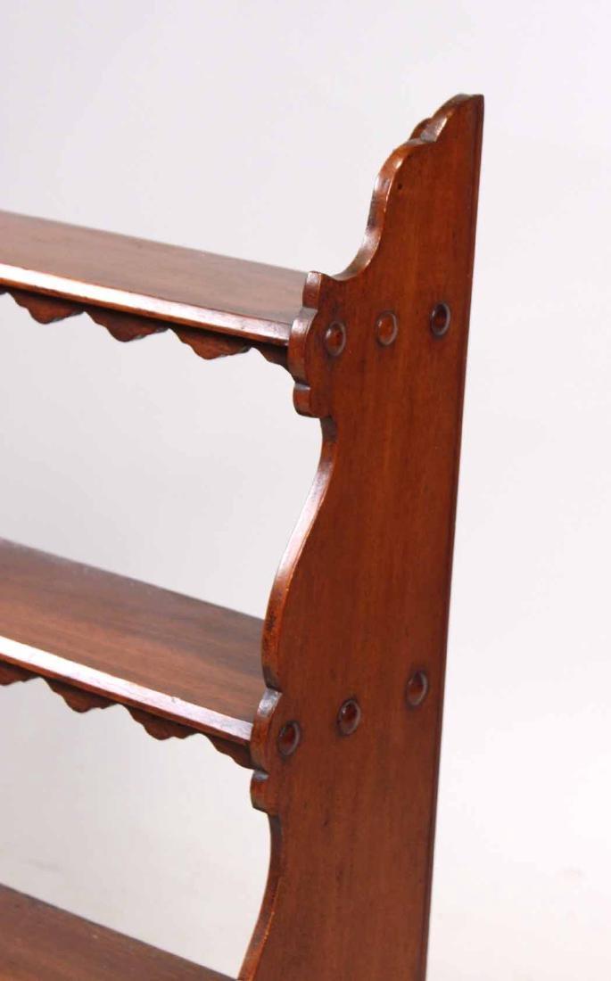 Mahogany Hanging What-Not Shelf - 2