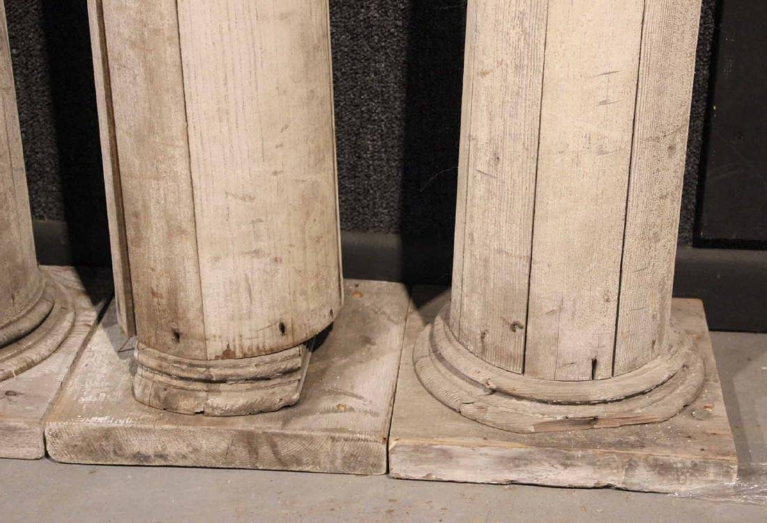 Four White-Painted Wood Columns - 5