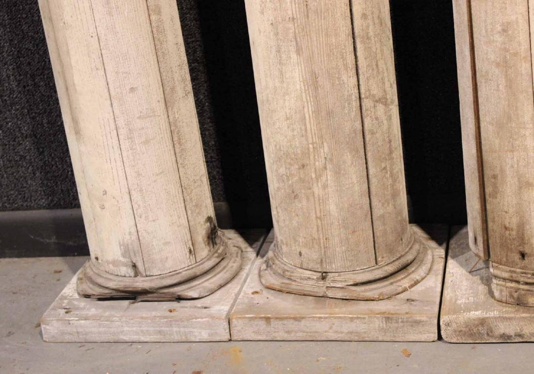 Four White-Painted Wood Columns - 6
