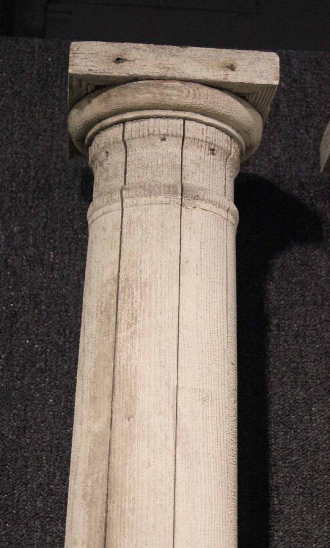 Four White-Painted Wood Columns - 7