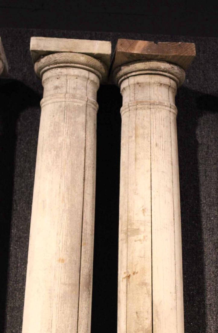 Four White-Painted Wood Columns - 8