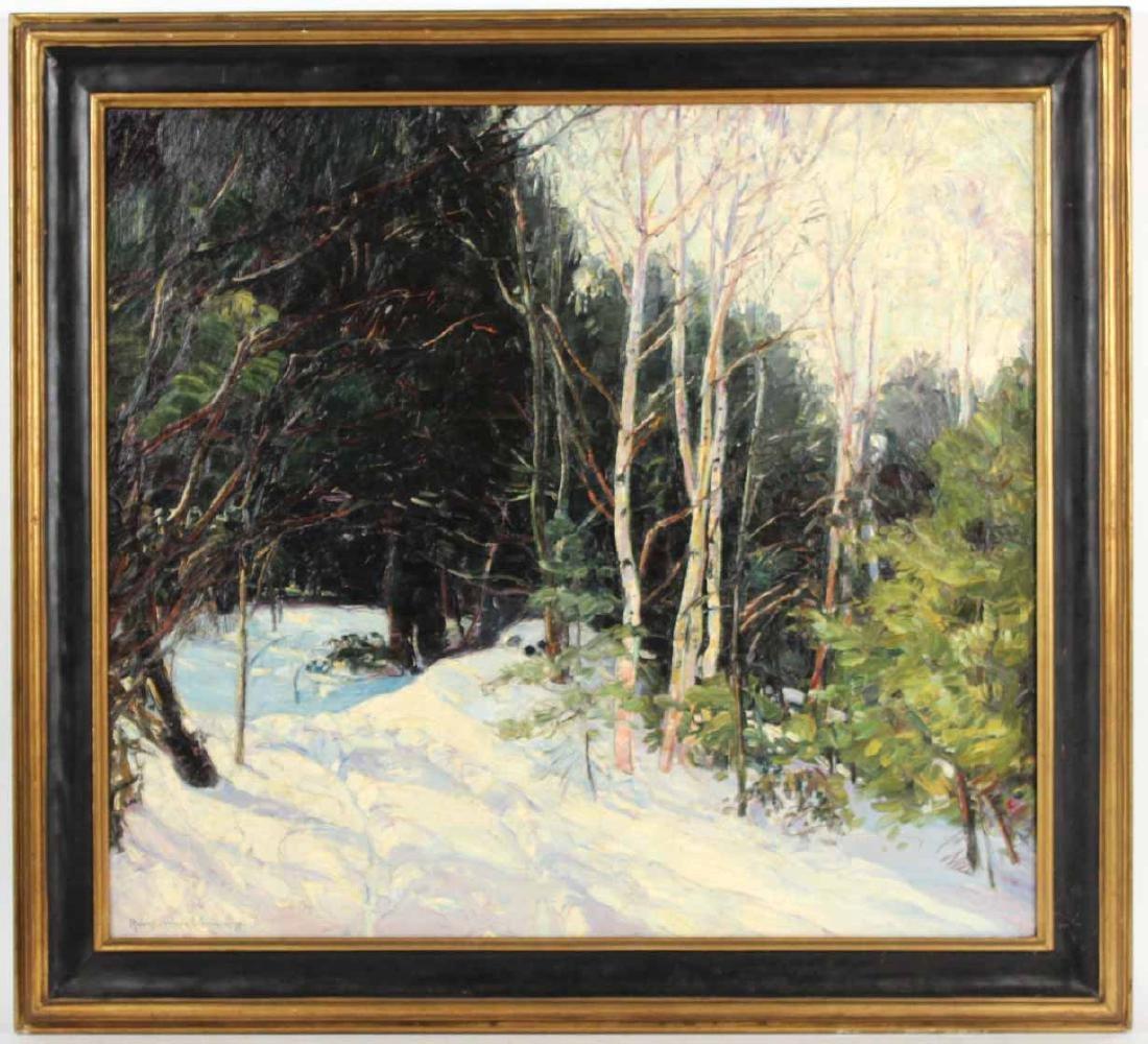 Oil on Canvas, Birch Trees, Robert Woodward