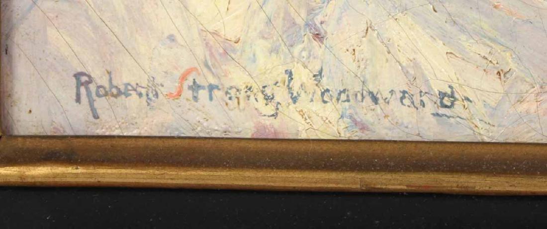 Oil on Canvas, Birch Trees, Robert Woodward - 2