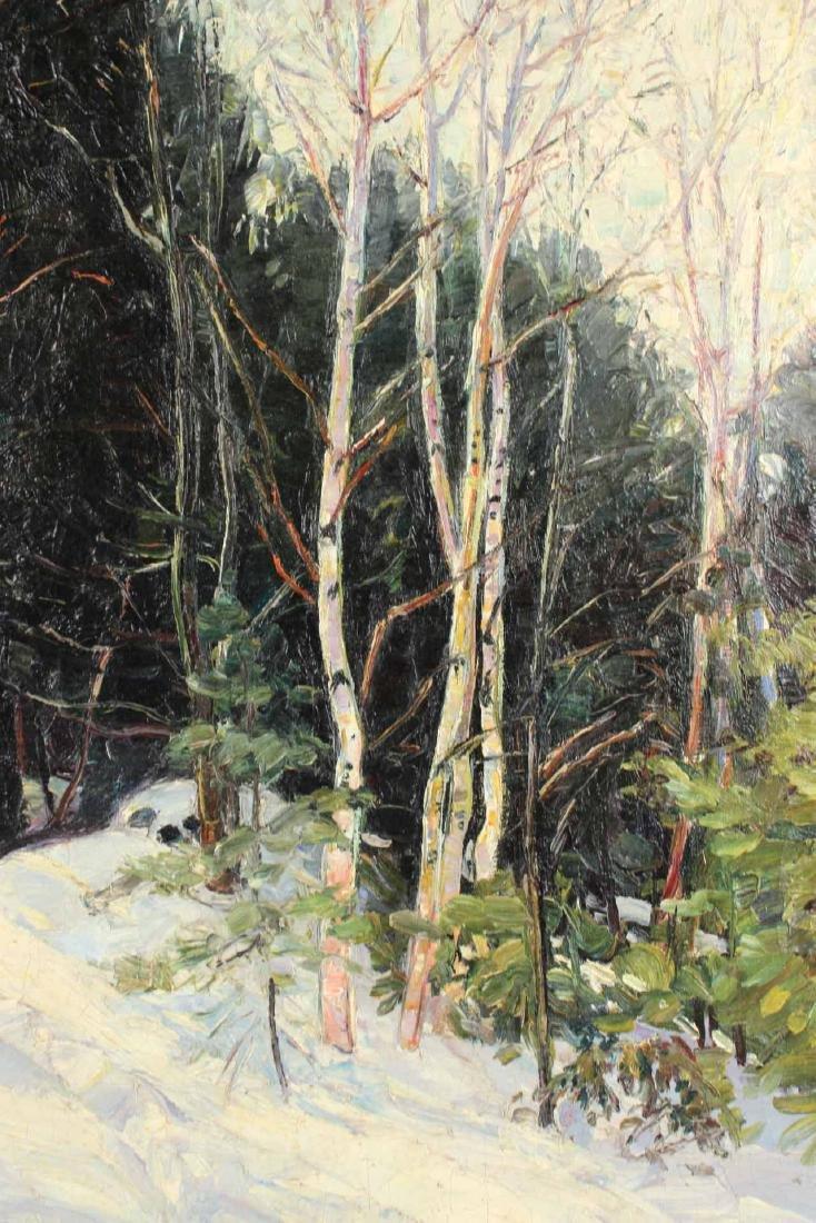 Oil on Canvas, Birch Trees, Robert Woodward - 3