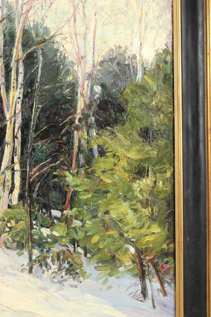 Oil on Canvas, Birch Trees, Robert Woodward - 4