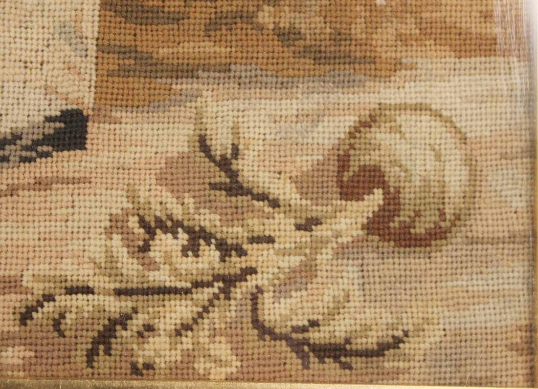 Needlework of Two Children with Rabbits and Dog - 7